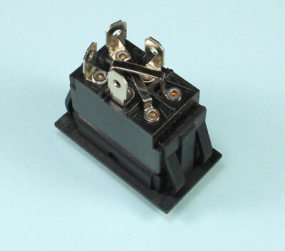 Momentary Black Rocker Switch For Polarity Reversing Dc Motor On Off On