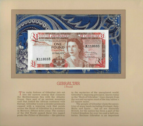 Most Treasured Banknotes Gibraltar 1 pound 1979 P-20b UNC K118693