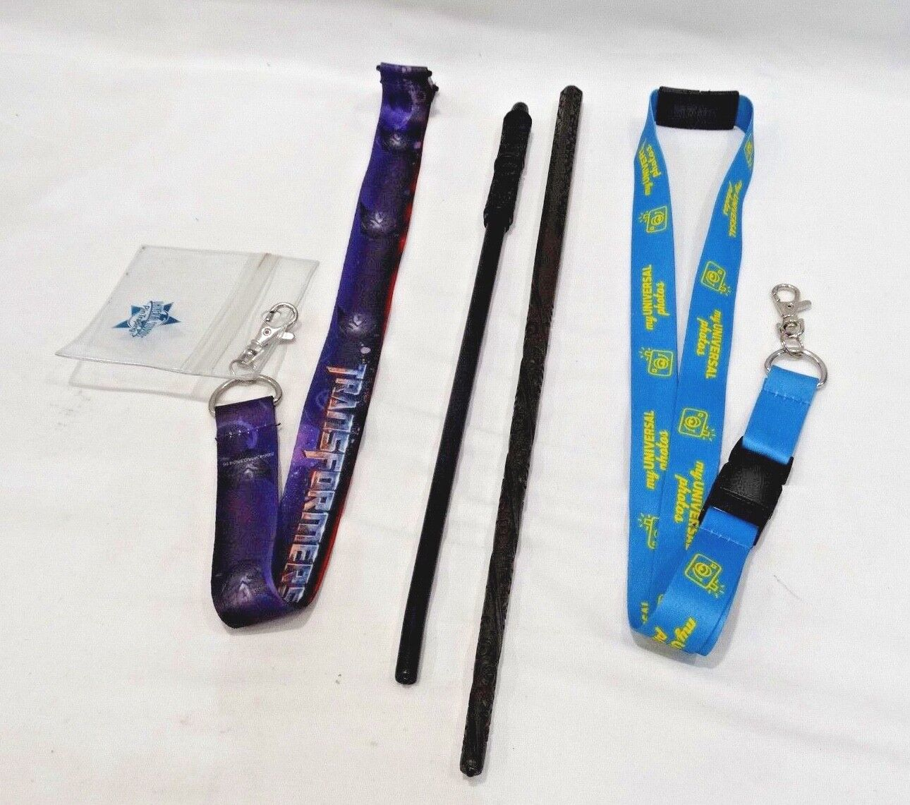 Universal Studios Professor Snape and Sirus Black Interactive Wands + Lanyards