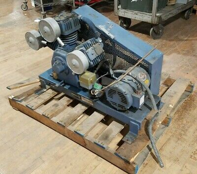 Honeywell Acp-59b-5b3 Air Compressor No Tank 5hp Baldor M3218t Motor Can Ship