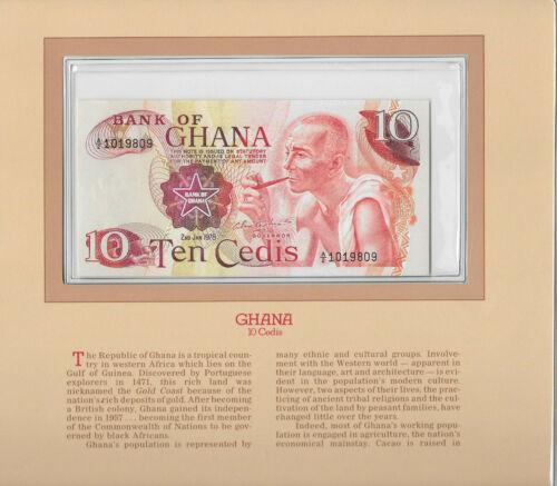 Most Treasured Banknotes Ghana 1978 10 Cedis P16f UNC Birthday 1980 A/2 1019809