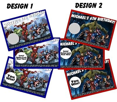 THE AVENGERS SCRATCH OFF OFFS PARTY GAME GAMES CARDS & BIRTHDAY FAVORS (Avengers Party Games)