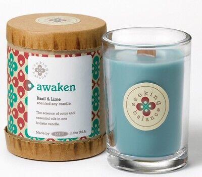 Root Candles Seeking Balance Glass Jar 6.5oz 50 hr burn eco soyAwaken