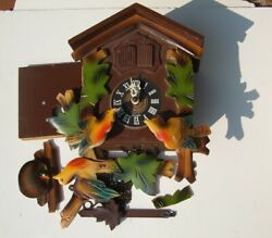 VINTAGE GERMANY BLACK FOREST CUCKOO WALL CLOCK - FOR PARTS REPAIR