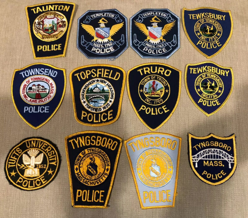 Massachusetts Police Patch Lot of 20 T's & U's