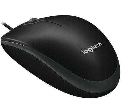 Logitech B100 Maus Kabel Schwarz Kabel Business Mouse Optisch USB verkabelt