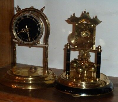 Two vintage incomplete anniversary clocks for parts