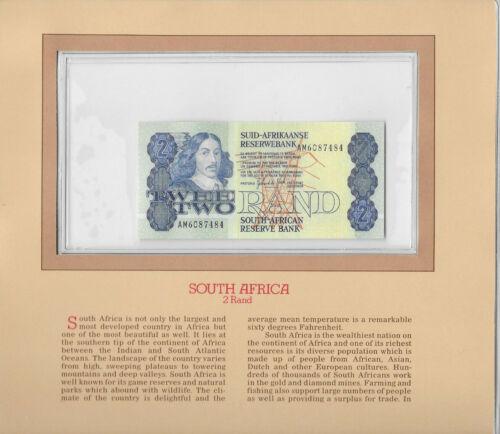 Most Treasured Banknotes South Africa 1983 2 Rand P 118d UNC Prefix AM