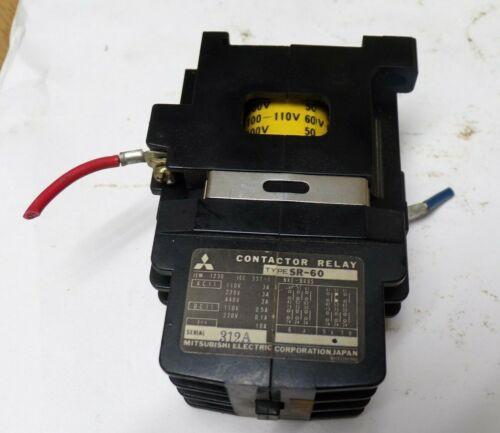 MITSUBISHI ELECTRIC CORP, CONTACTOR RELAY, SR-60, 312A, 60 Hz, 100-110 V, 60 V