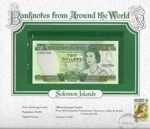 World Banknotes Solomon Islands 1977 $2 UNC P-5 Prefix A/2