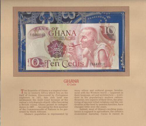 Most Treasured Banknotes Ghana 1978 10 Cedis P16f UNC Prefix Z/1