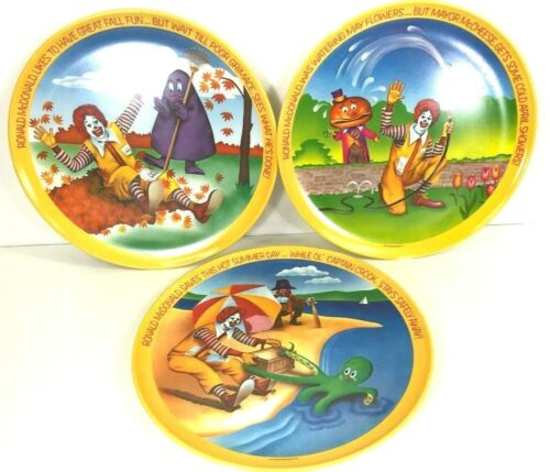 Vintage Mcdonalds Plates
