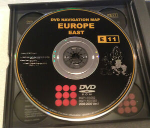 lexus toyota europe map east oem e11 navigation dvd disc 2008 2009 sat ver 1 0. Black Bedroom Furniture Sets. Home Design Ideas