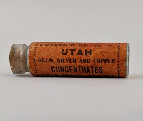 Antique Utah Mining Gold Silver and Copper Concentrates World