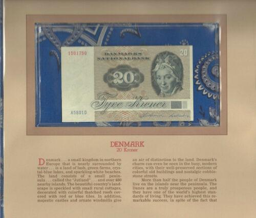 Most Treasured Banknotes Denmark 1980 20 Kroner P-49b.3 UNC A5801D
