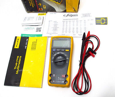 Fluke 177 True Rms Multimeter Calibrated W Prior Nist Certificate Excellent