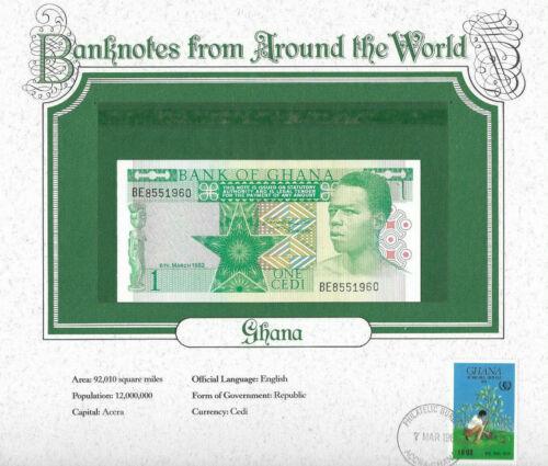 World Banknotes Ghana 1982 1 Cedi P17a UNC Birthday BE8551960