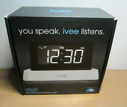 Ivee Digit Model iv1 Interactive Voice Controlled Digital Alarm Clock NEW IN BOX