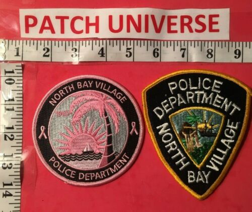 LOT OF TWO DIFFERENT NORTH BAY VILLAGE  FLORIDA  POLICE SHOULDER PATCHES  N066