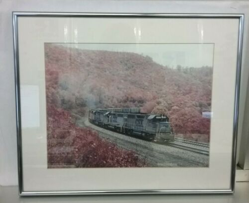 "CSX Freight Train Photograph Framed 17"" x 14"""