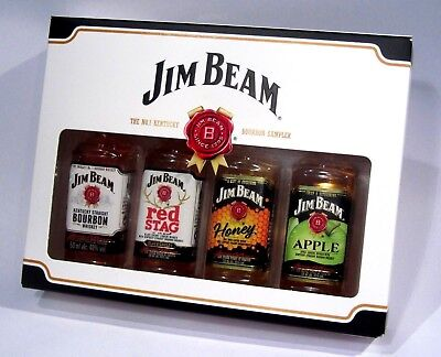 4 Miniaturen Jim Beam Whisky Geschenk Set Red Stag Honey Apple rar Limit Whiskey