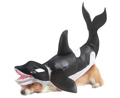Animal Planet Sea World Orca Killer Whale Dog Costume XS X-Small - Orca Whale Costume
