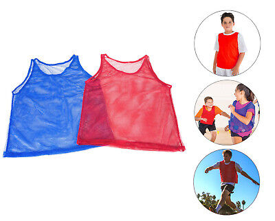 12 Pinnies Youth Practice Team Jerseys Mesh Scrimmage Training Vest Kids Sports