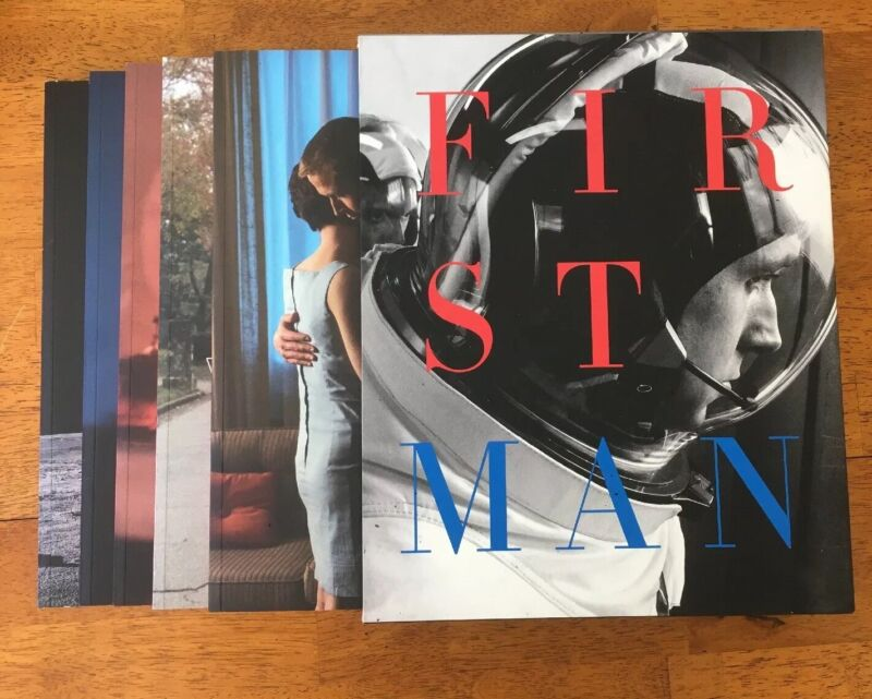 FIRST MAN (2018) Large FYC Awards Book 5 Books Inside Slipcover Promo Oscars