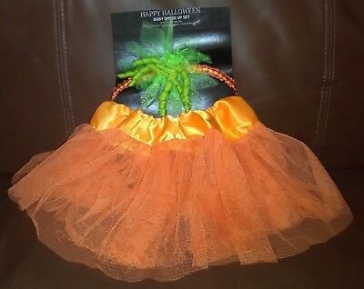 Happy Halloween Baby Pumpkin Dress Up Set 0-3 Months](0-3 Month Halloween Costumes)