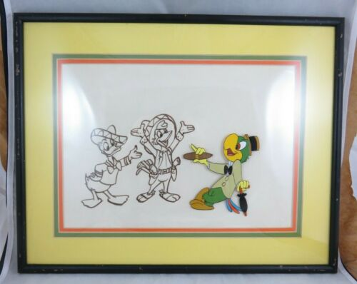 Vtg Disney - Jose Carioca - Animation Art Cel - Three Caballeros - Drawing