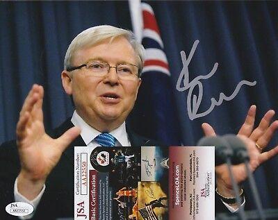 Kevin Rudd Signed 8x10 Photo w/ JSA COA #AA22550 Former Australia Prime Minister