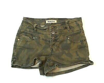Camo Booty (Blue Spice Juniors Shorts Size 3 Camouflage Camo Booty Mini Shorty)