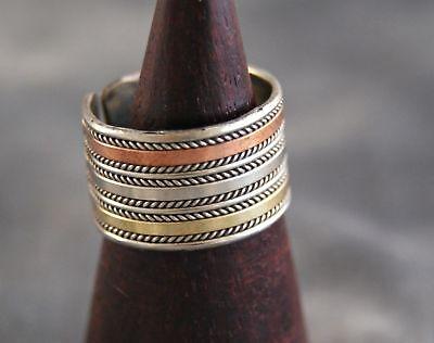 Ring ~ breit ~ 3 Metalle ~ Nepal (1306)