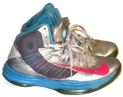 huge selection of 08457 64ee3 Nike Lunar Hyperdunk 2012 Wolf Mens Gray Teal Fireberry Sneakers Shoes Size  10