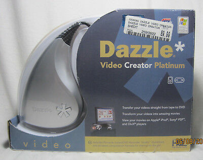 Pinnacle Dazzle Video Creator Platinum VHS to DVD Capture Recorder Apple Windows