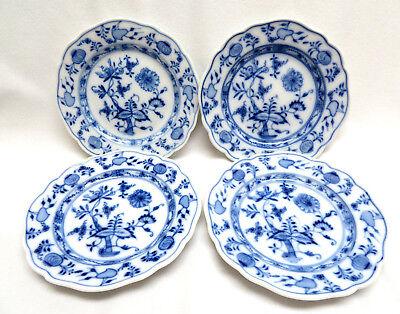 4 Blue Onion Meissen Porcelain Germany Bread & Butter Plates ~ Oval Stamp  Blue Onion Bread Plate