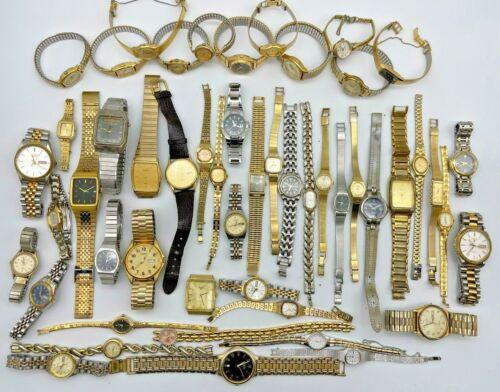 Lot of 51 PULSAR Watches, Modern & Vintage, Ana/Digi, Quartz, Men