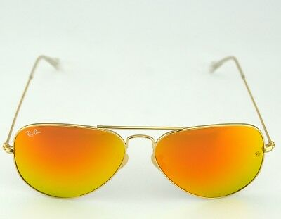 Cheap Gold Frames (Ray Ban RB3025 Aviator Flash Lenses 112/69 Gold Frame/Orange Flash Lenses)