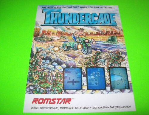 Thundercade Arcade FLYER Original NOS Video Game Promo Artwork Sales Sheet 1987