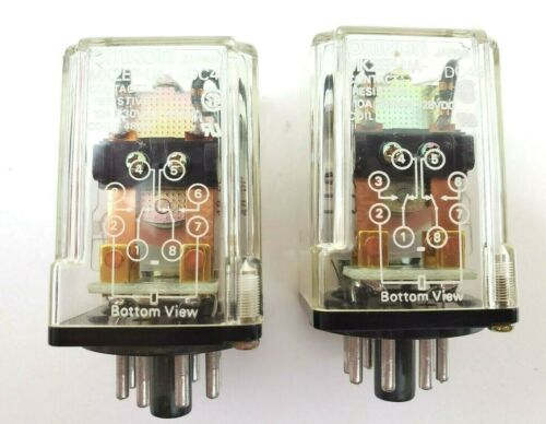 Lot of 2 Omron MK2EP-UA-DC48 Ice Cube Relays 8 Pin 48 Volt DC Coil