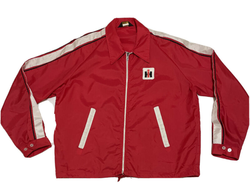 Vintage International Harvester IH Windbreaker Jacket Mens Large Swingster Tag