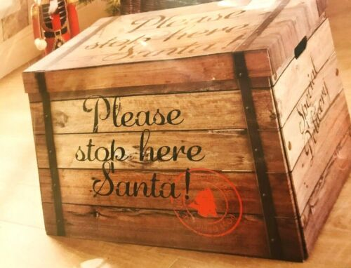 New+Christmas+Big+Wooden+Crate+Please+Stop+Here+Santa+Christmas+Decor%2FGift+Item