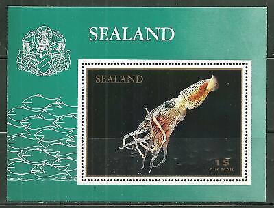 SEALAND MNH SOUVENIR SHEET SQUID