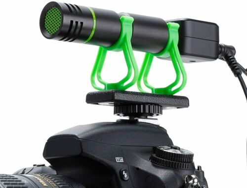 Camera Microphone, Video Microphone for iPhone, Shotgun Mic, Rechageable