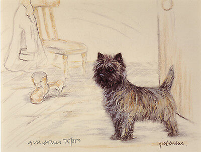 CAIRN TERRIER DOG FINE ART LIMITED EDITION PRINT