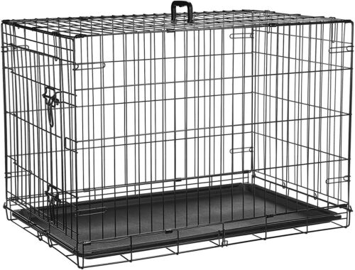 Large Dog Crate Kennel 48 Inch Huge Size Folding Pet Wire Ca