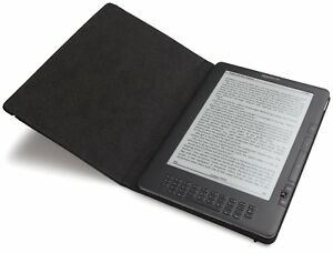 NEW NIB Kindle DX Amazon Leather Cover Case Black fits 9.7