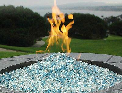 Fire Pit Glass Rocks For Outdoor Propane Gas Fireplace Crystals Patio New 10 lbs