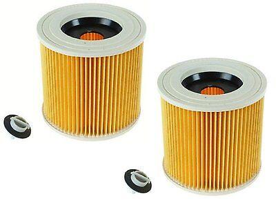 2 x cartridge filter for karcher mv2 nt27 1 wet dry vacuum cleaners ebay. Black Bedroom Furniture Sets. Home Design Ideas