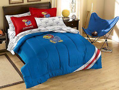 NCAA Full Bed Set, Kansas Jayhawks, 7 piece